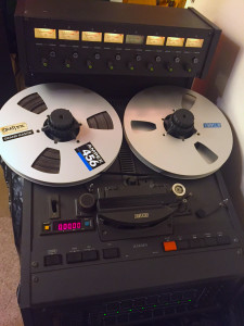 "My next big step up from the Fostex. Otari MX5050 1"" 8-track reel-to-reel. Purchased used circa 1994. I started to record a lot of other bands around that time and this lovely-sounding machine was my workhorse!"